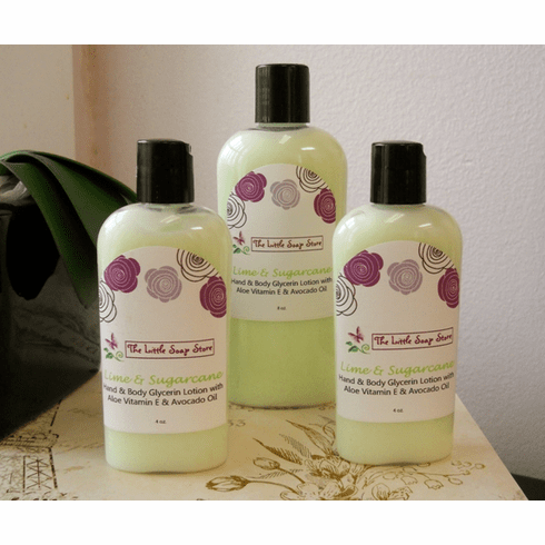 Lime & Sugarcane Glycerin Lotion 8 oz
