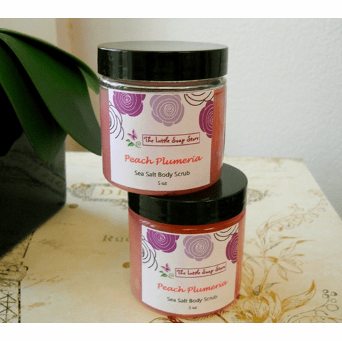 Peach Plumeria Sea Salt Body Scrub