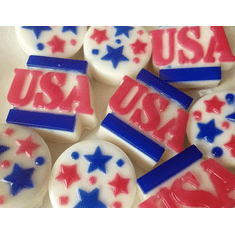 Set of 10 Independence Day Mini Soaps