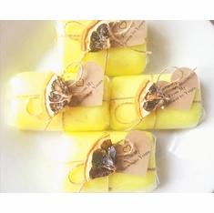 Set of 20 Soap Favors with Lemon Wedge