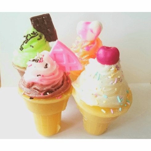 Set of 4 Large Ice Cream Cone Soaps