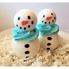Snowman Peppermint Bath Bomb