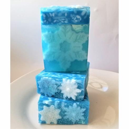 Sparkilng Snowflake Holiday Soap