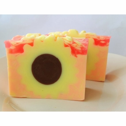 Sunflower Pomegranate Goat Milk Soap