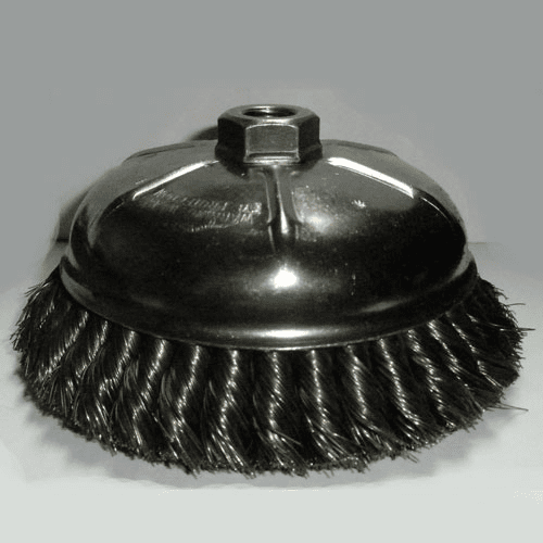"6"" X 5/8""-11 .014 wire Knot Cup Brush No. 6KC58"