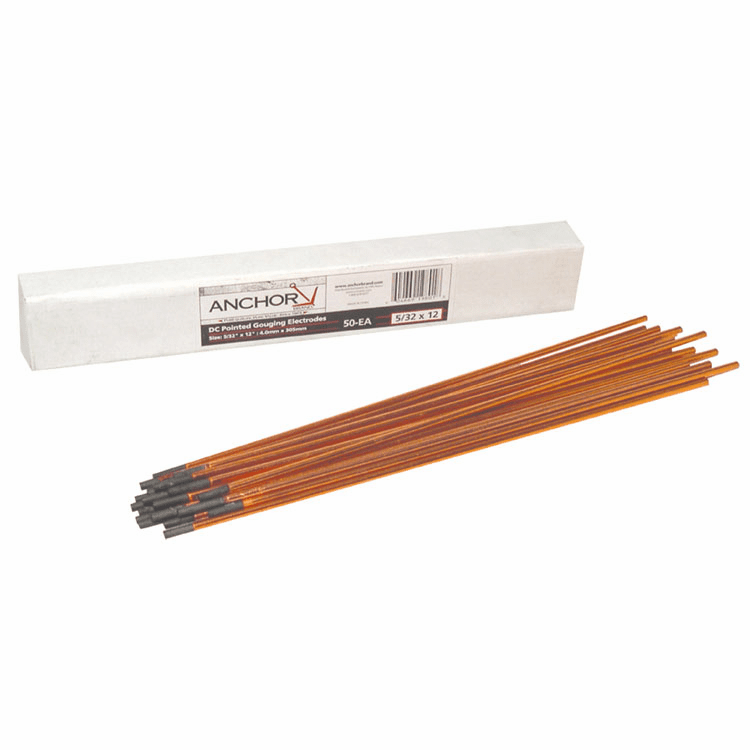 ANCHOR 3/8X12 DC COPPERCOATED GOUGING CARBONS