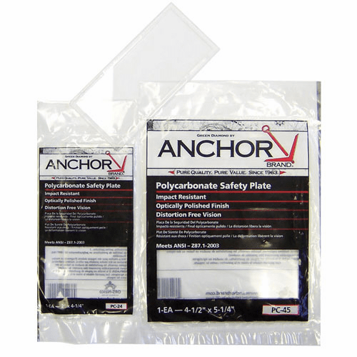 ANCHOR 4X5 POLYCARBONATESAFETY PLATE