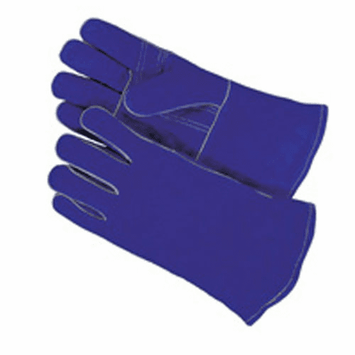 Blue Shoulder Split cowhide Stick welding glove No. 1413T