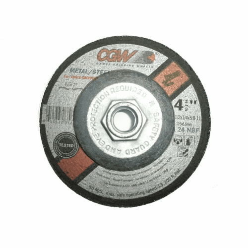 "CGW Abrasives Depressed Center Wheels- 1/4"" Grinding, Type 27 No. 35623"