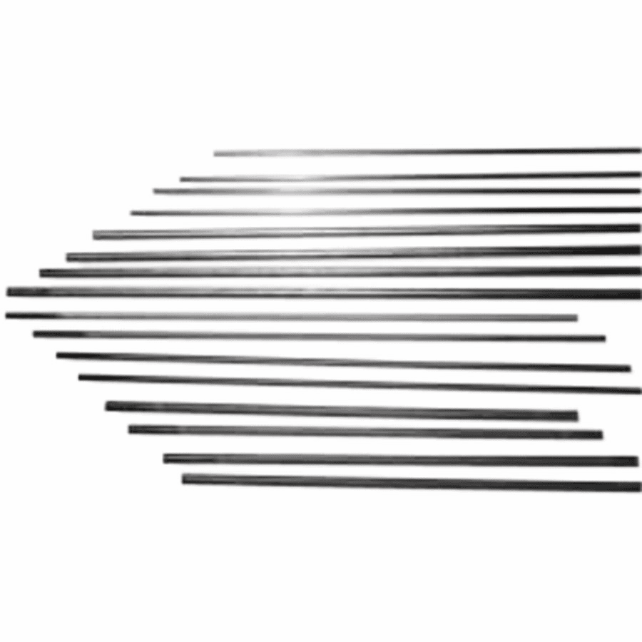 DC Copperclad Gouging Electrodes, 3/8 in X 12 in