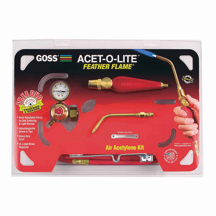 Goss Feather Flame® Air- Acetylene Torch Kit No. KA-1H