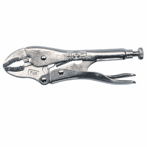 """Irwin 7"""" (175mm) Curved jaw locking Plier with Wire cutter No. 7WR"""