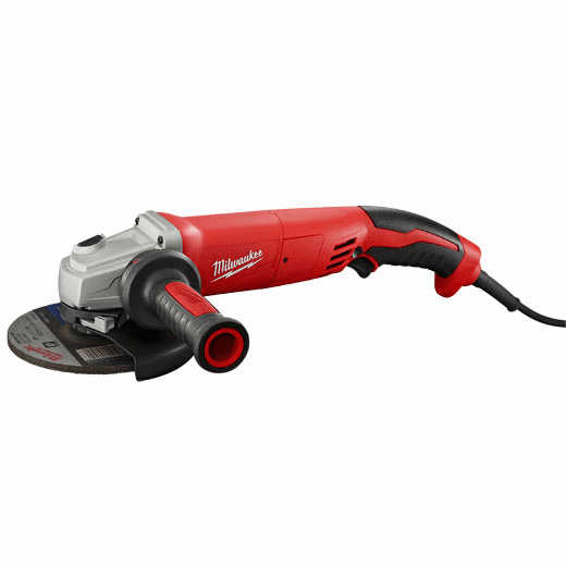 "Milwaukee 13 Amp 6"" Small Angle Grinder Trigger Grip, No-Lock No. 6124-31"