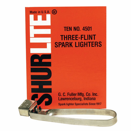 Shurlite Three Flint Spark Lighters: No. 4501