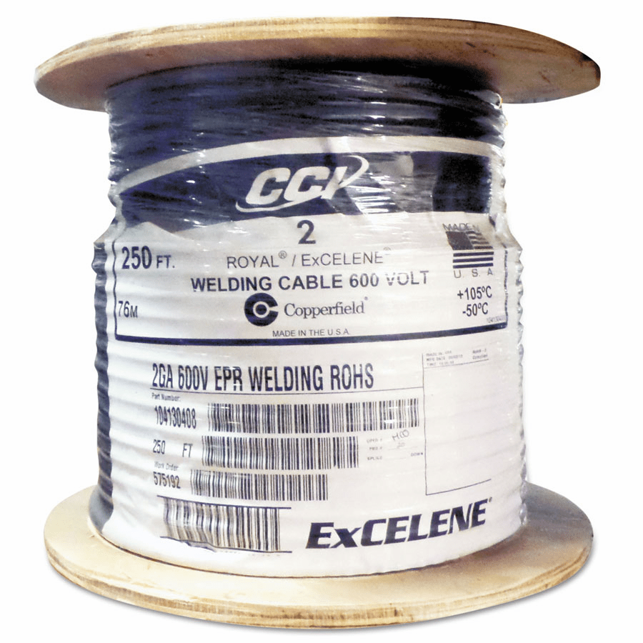 Welding Cables, 4 AWG, 250 ft