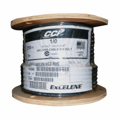 """Whip Cable, 0.084"""" Insulation, 1/0 AWG, 500 ft, Black"""