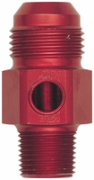 "-10 Male to 3/8"" Male NPT with 1/8"" Female NPT Port in Hex"
