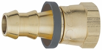 -10 Straight Push-On Hose End - Brass