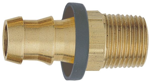 "-10 Straight Push-On Hose End to 1/2"" Male NPT - Brass"
