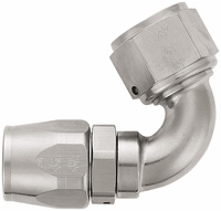 -12 120� Double Swivel Hose End - Aluminum - Super Nickel Plated