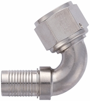 -12 120� HS-79 Hose End - Aluminum - Super Nickel Plated