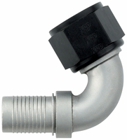 -12 120� HS-79 Hose End - Aluminum - Ti-Tech Finish