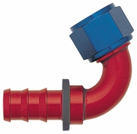 -12 120� Push-On Hose End - Aluminum