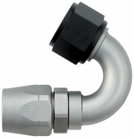 -12 150� Double Swivel Hose End - Aluminum - Ti-Tech Finish