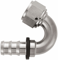 -12 150� Push-On Hose End - Aluminum - Super Nickel Plated