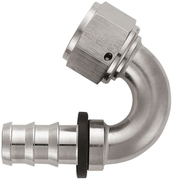-12 150¼ Push-On Hose End - Aluminum - Super Nickel Plated