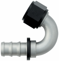 -12 150� Push-On Hose End - Aluminum - Ti-Tech Finish