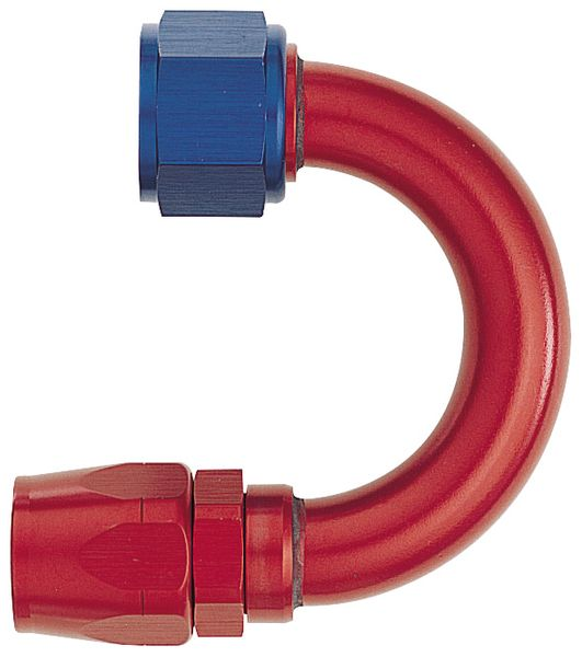 "-12 180¼ Double Swivel Hose End - Standard (1-1/2"" Radius) - Aluminum"