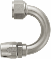 "-12 180� Double Swivel Hose End - Standard (1-1/2"" Radius) - Aluminum - Super Nickel Plated"