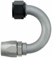 "-12 180� Double Swivel Hose End - Standard (1-1/2"" Radius) - Aluminum - Ti-Tech Finish"