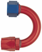 -12 180� Fixed Hose End - Aluminum