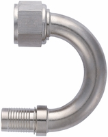 -12 180� HS-79 Hose End - Aluminum - Super Nickel Plated