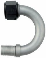 -12 180� HS-79 Hose End - Aluminum - Ti-Tech Finish