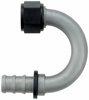 -12 180� Push-On Hose End - Aluminum - Ti-Tech Finish
