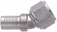 -12 30� HS-79 Hose End - Aluminum - Super Nickel Plated