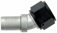 -12 30� HS-79 Hose End - Aluminum - Ti-Tech Finish
