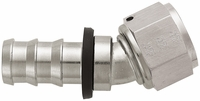 -12 30� Push-On Hose End - Aluminum - Super Nickel Plated