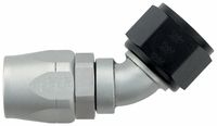 -12 45� Double Swivel Hose End - Aluminum - Ti-Tech Finish
