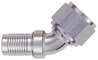 -12 45� HS-79 Hose End - Aluminum - Super Nickel Plated
