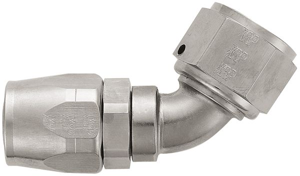 -12 60¼ Double Swivel Hose End - Aluminum - Super Nickel Plated