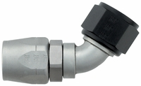 -12 60� Double Swivel Hose End - Aluminum - Ti-Tech Finish