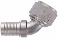 -12 60� HS-79 Hose End - Aluminum - Super Nickel Plated
