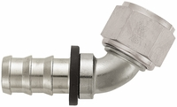 -12 60� Push-On Hose End - Aluminum - Super Nickel Plated