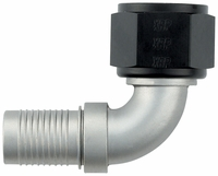 -12 90� HS-79 Hose End - Aluminum - Ti-Tech Finish