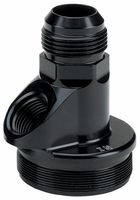 -12 AN Inlet End Cap With Accessory Port for 71 and 72 Series In-Line Oil Filter