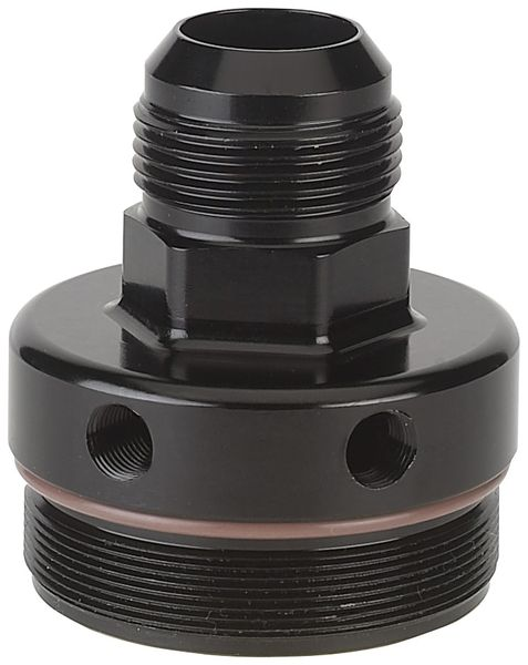 -12 AN Outlet End Cap with Pressure Differential Takeoff for 71 and 72 Series In-Line Oil Filter